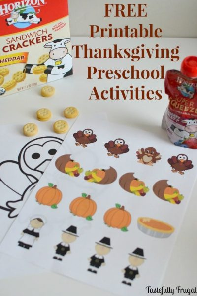 Make Lunch Time Fun With These FREE Thanksgiving Activties and Horizon Snacks | Tastefully Frugal ad #HorizonLunch #CollectiveBias
