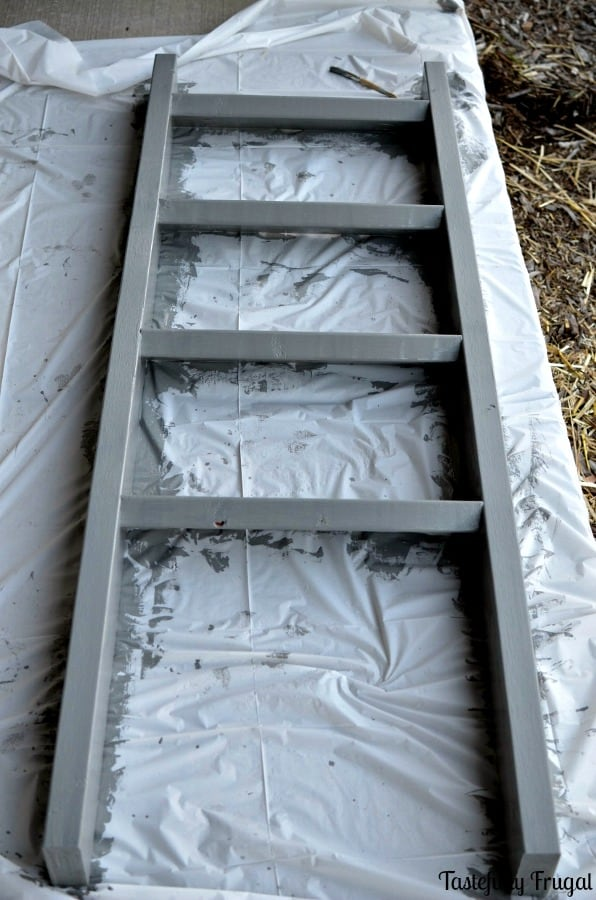 Easy DIY Blanket Ladder   Tastefully Frugal ad #BIGSeason #BigLots #CollectiveBias @BigLots