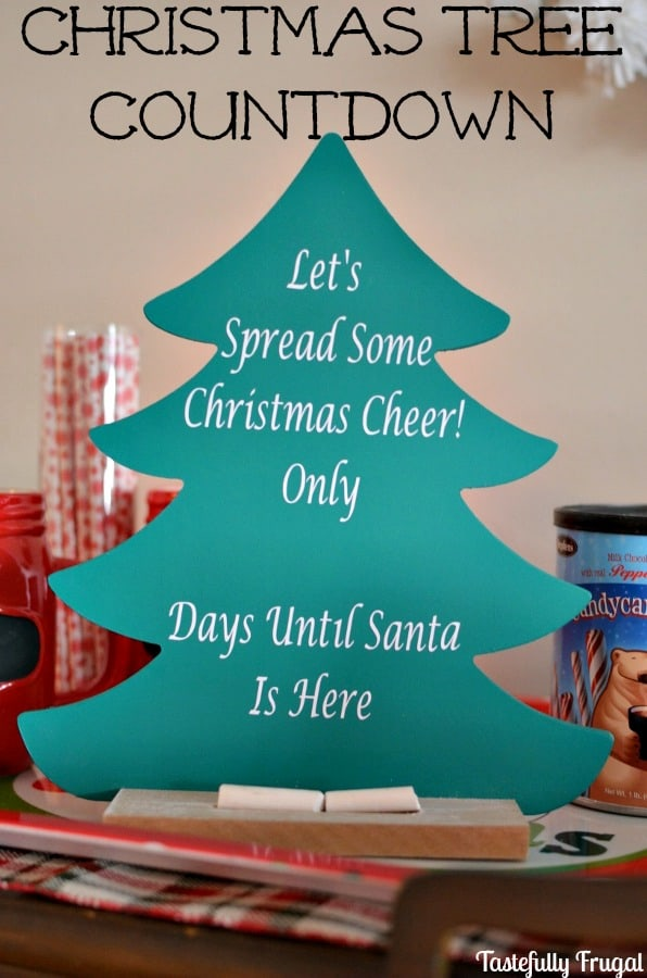 Christmas Tree Countdown AND Silhouette Giveaway   Tastefully Frugal