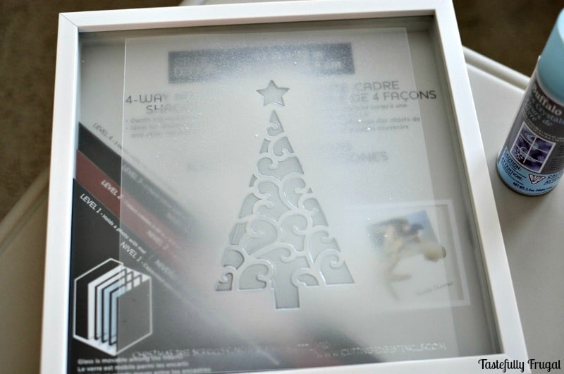 Christmas Tree & Ornament Shadow Box   Tastefully Frugal