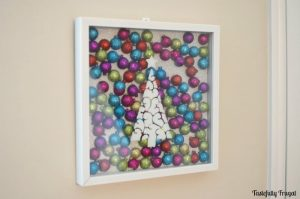 Christmas Tree & Ornament Shadow Box | Tastefully Frugal
