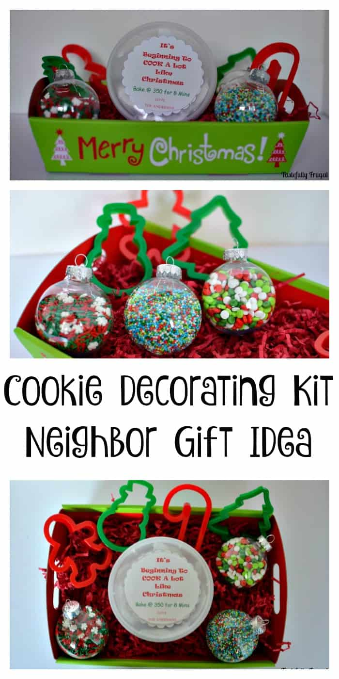 cookie decorating kit neighbor gift idea tastefully frugal