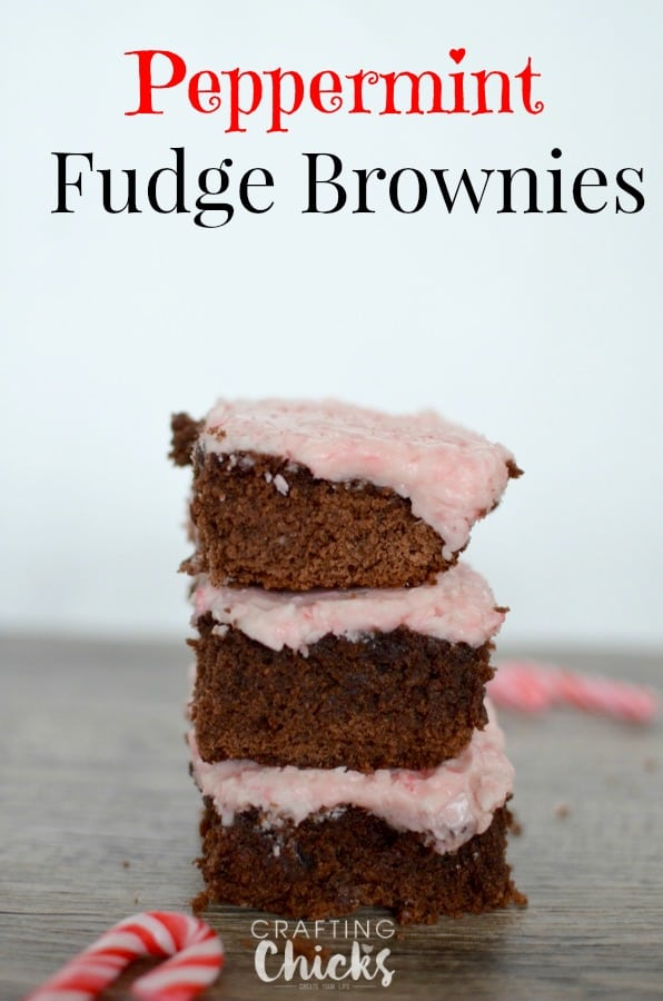 Peppermint Fudge Brownies | Tastefully Frugal