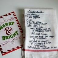 DIY Recipe Dish Towels