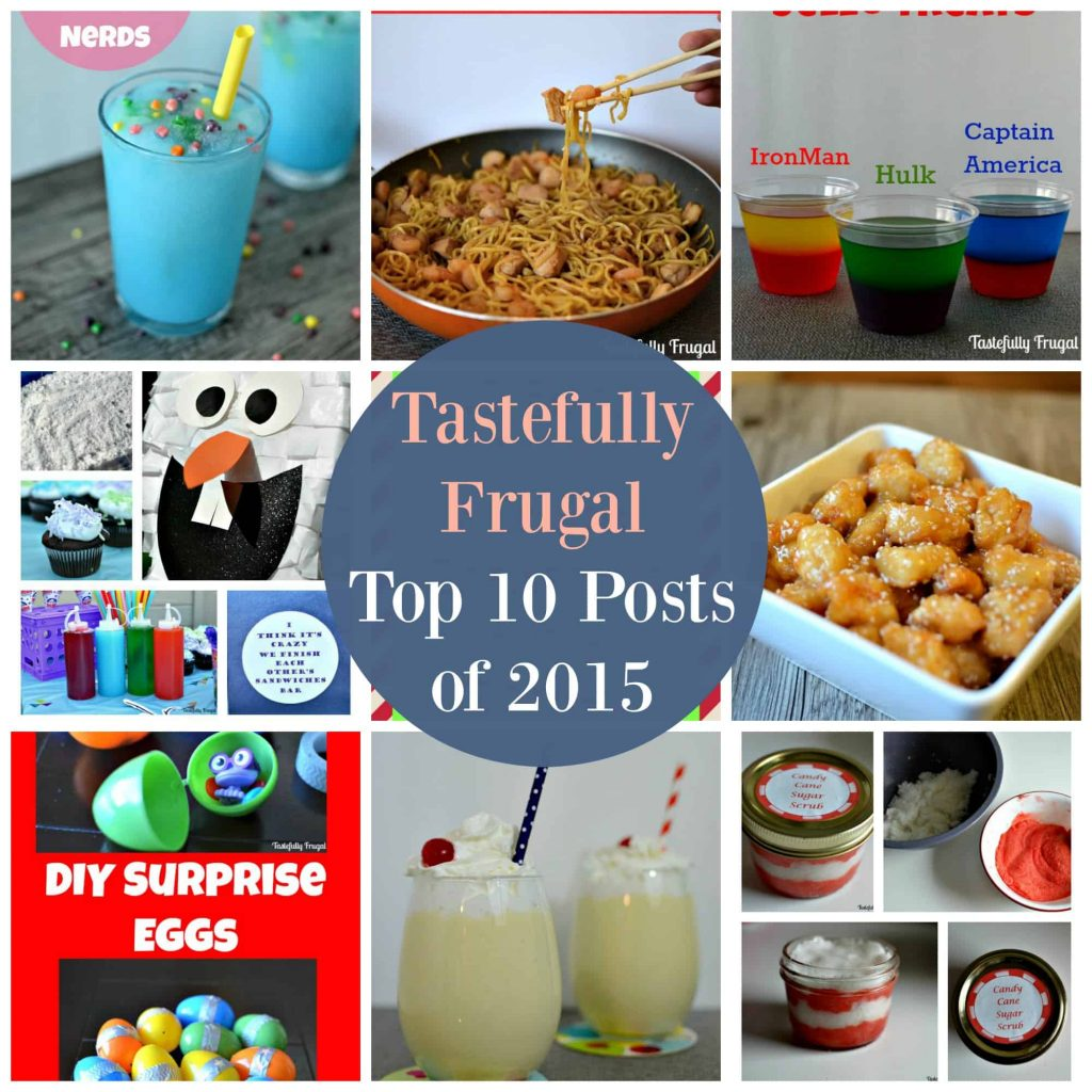 Tastefully Frugal's Top 10 Posts of 2015