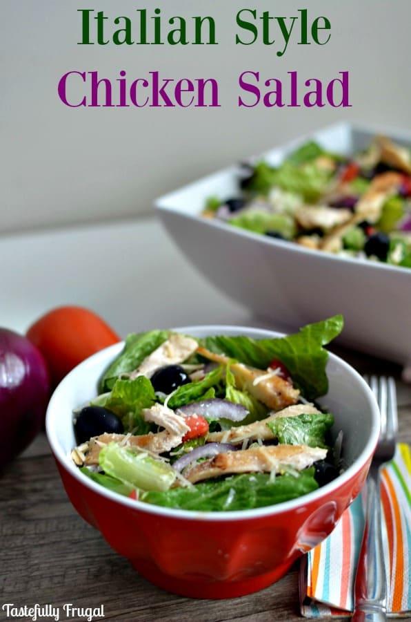 AD Italian Style Chicken Salad | Tastefully Frugal #CollectiveBias #SimpleSatisfyingSalads #EverydayEffortless