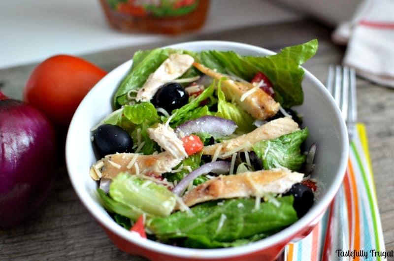 AD Olive Garden Inspired Chicken Salad | Tastefully Frugal #CollectiveBias #SimpleSatisfyingSalads #EverydayEffortless