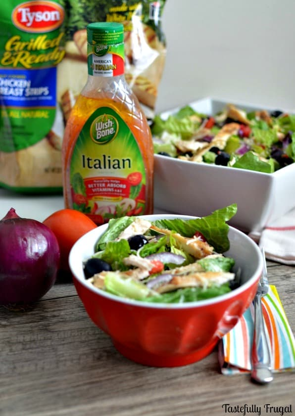 AD Olive Garden Inspired Chicken Salad | Tastefully Frugal #CollectiveBias #SimpleSatisfyingSalads #EverydayEffortless