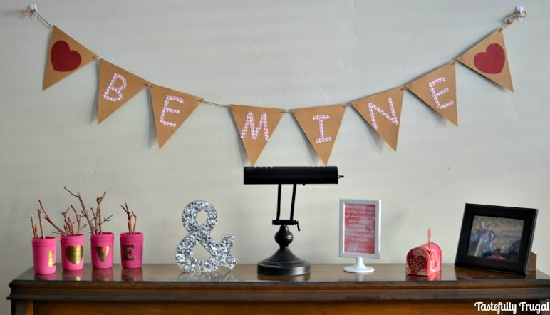Valentine's Day Decorating On A Budget: Create this look for less than $10   Tastefully Frugal