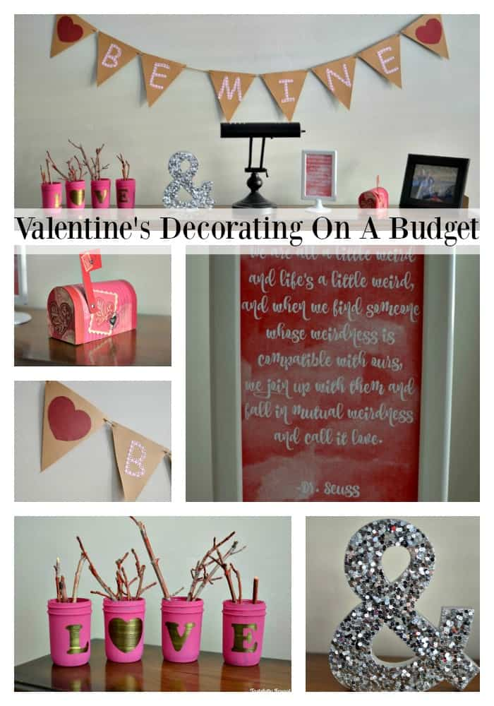 Valentine's Day Decorating On A Budget: Create this look for less than $10 | Tastefully Frugal