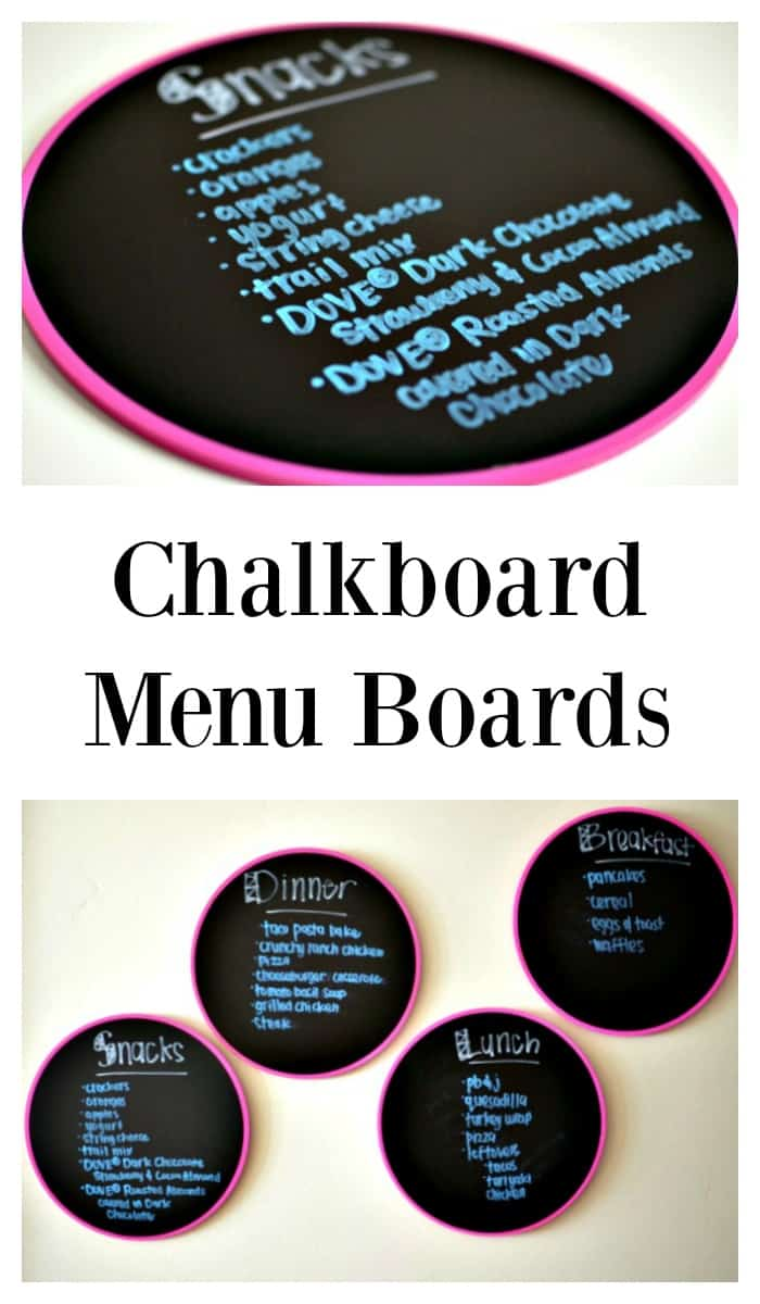"Chalkboard Menu Boards: Never hear ""What do we have to eat?"" again! AD #LoveDoveFruits #CollectiveBias"