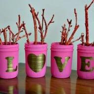 Shabby Chic Love Mason Jars