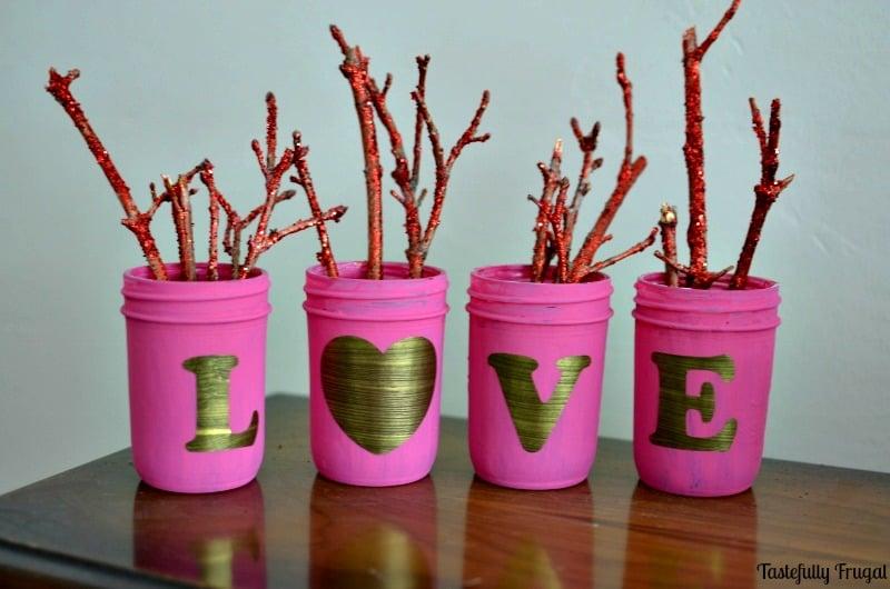Shabby Chic Love Mason Jars   Tastefully Frugal