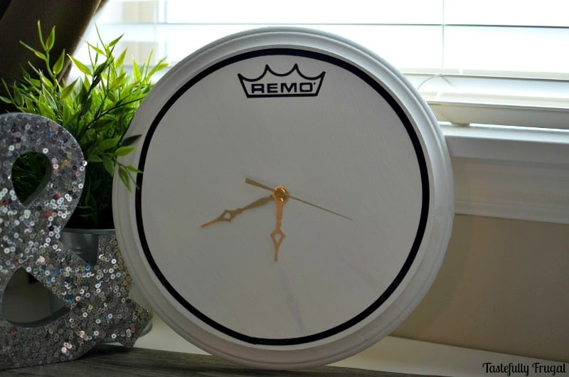 DIY Remo Drum Clock | Tastefully Frugal