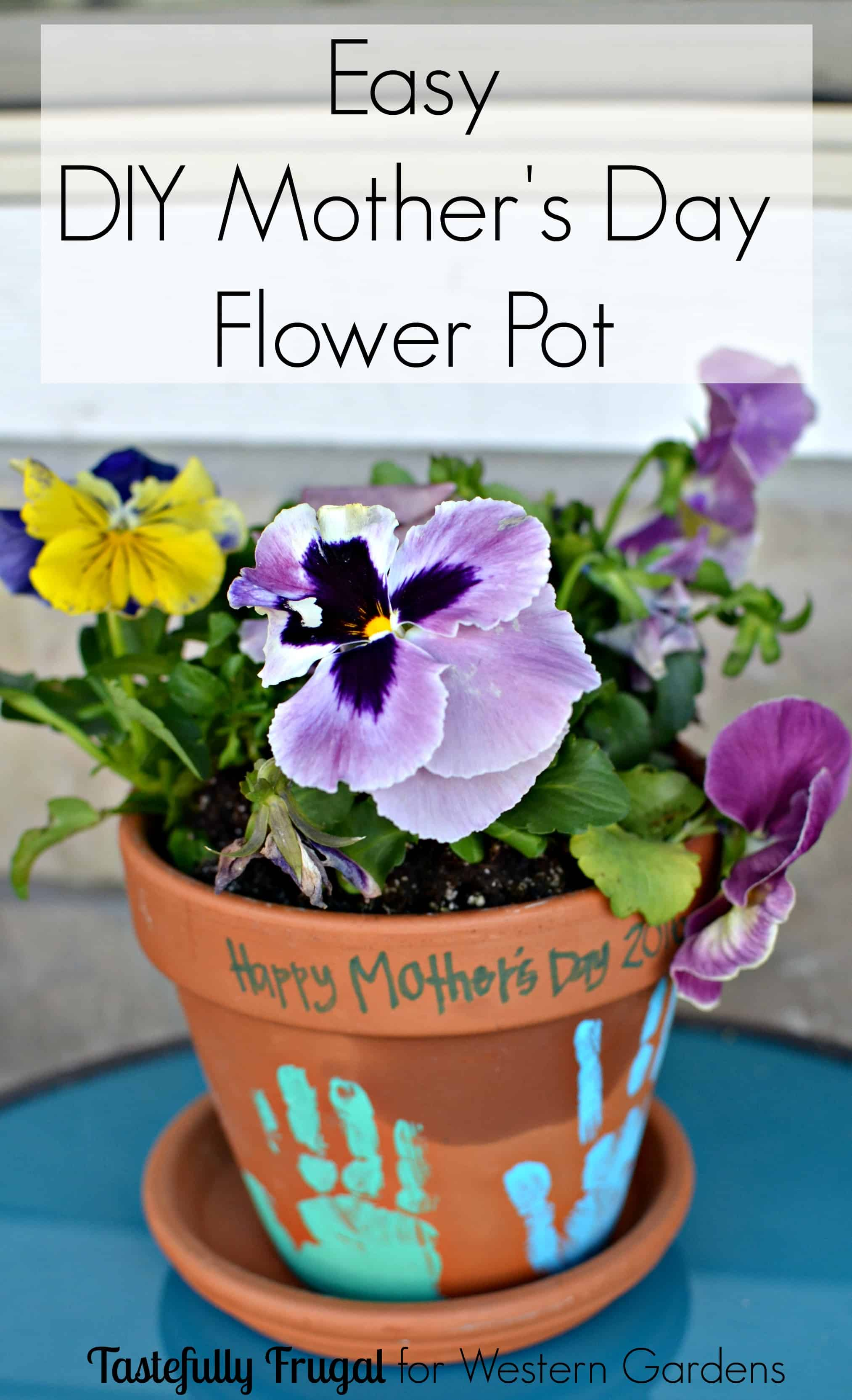 Diy flower pot mother s day gift for What to get mom for mother s day diy