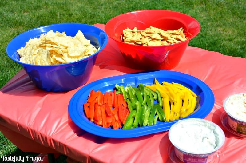 Create a Festive Table for Memorial Day or 4th of July in an hour and for pennies | Tastefully Frugal AD #DipintoMeze #CollectiveBias