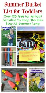 Summer Bucket List For Toddlers: Over 120 Free (or Almost Free) Activities To Keep The Kids Busy All Summer Long   Tastefully Frugal