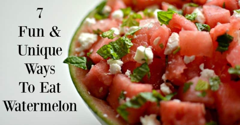 7 Fun & Unique Ways To Eat Watermelon