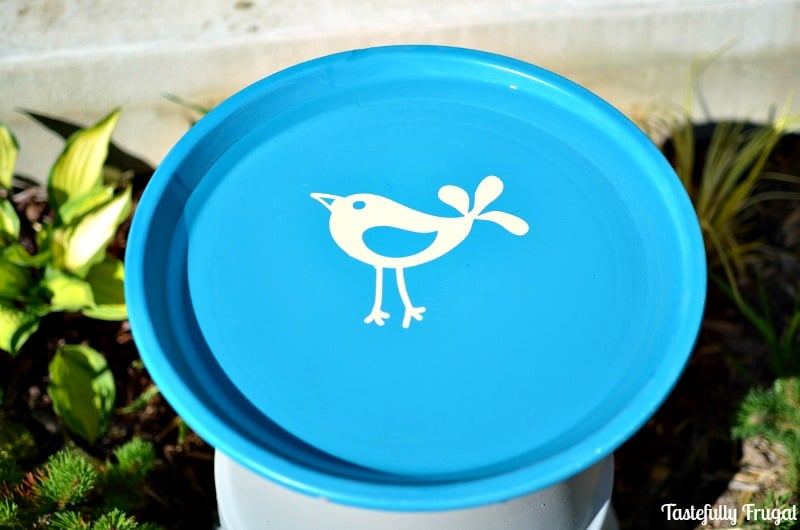 DIY Bird Bath: Make Your Own Bird Bath With Terra Cotta Pots AD #CompleteWithGlade | Tastefully Frugal