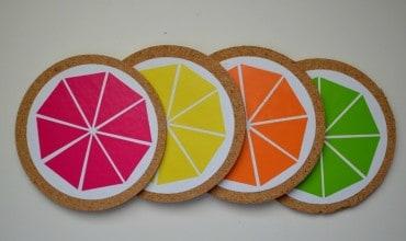 DIY Citrus Coasters