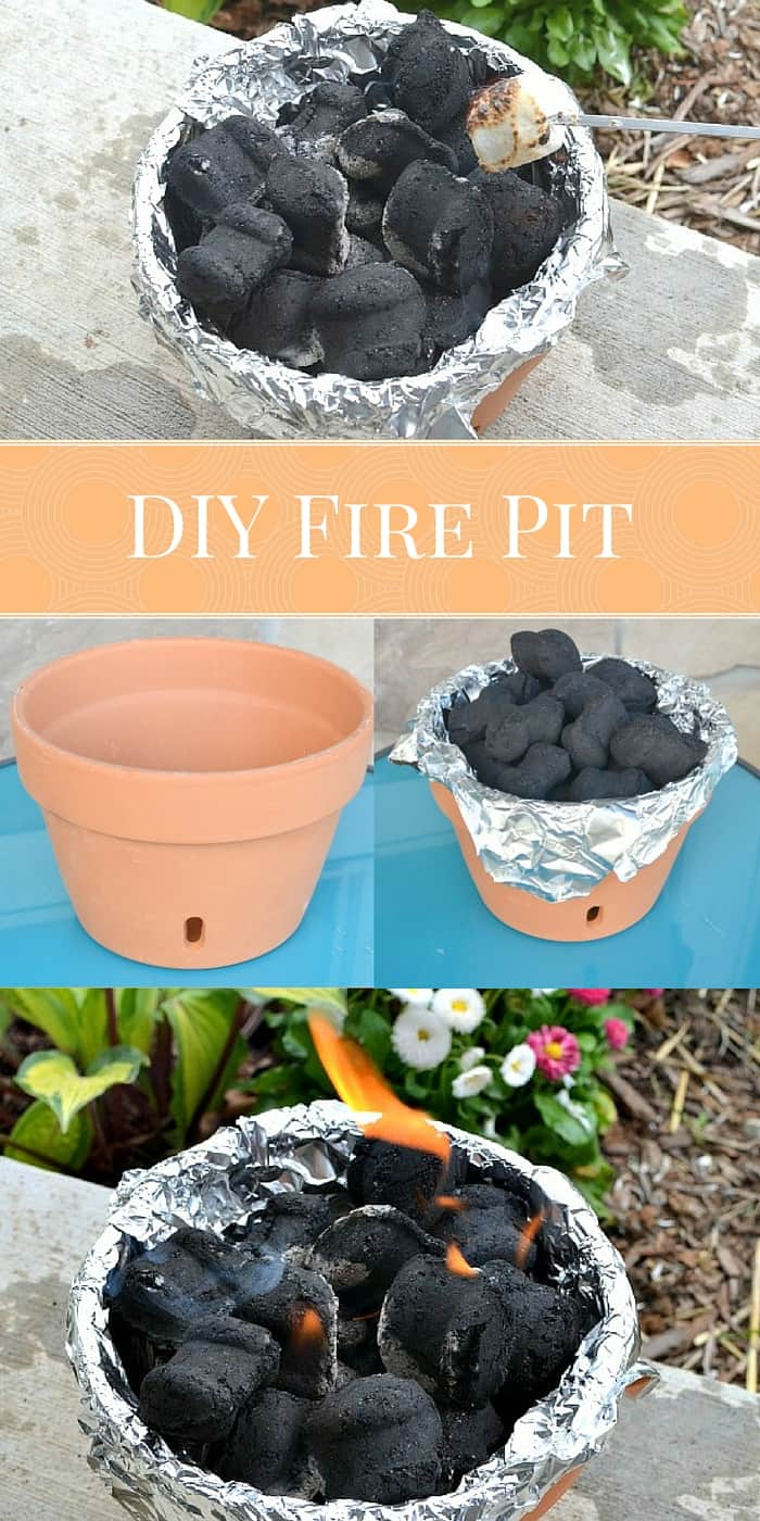 DIY Fire Pit: Make Your Own Table Top Fire Pit Out Of A Terra Cotta