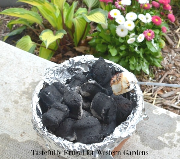 DIY Fire Pit: Make your own table top fire pit out of a terra cotta pot | Tastefully Frugal