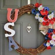 DIY Patriotic Wreath
