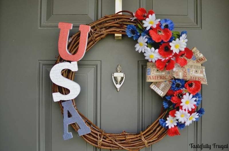 4th of July Wreath: Show your Patriotic spirit with this easy DIY wreath | Tastefully Frugal