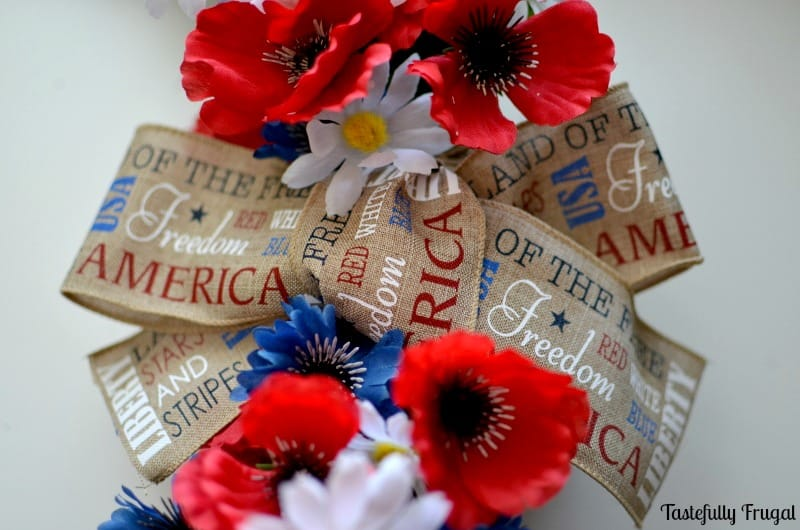 4th of July Wreath: Show your Patriotic spirit with this easy DIY wreath   Tastefully Frugal