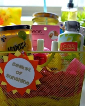 Basket of Sunshine: Brighten someone's day with this fun gift basket | Tastefully Frugal