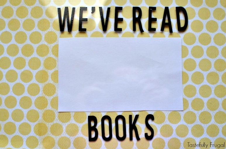 DIY Reading Tracker: Help Kids Keep Track Of The Books They've Read With This Easy To Make Reading Tracker | Tastefully Fruagl ad #StartSchoolLikeAChampion
