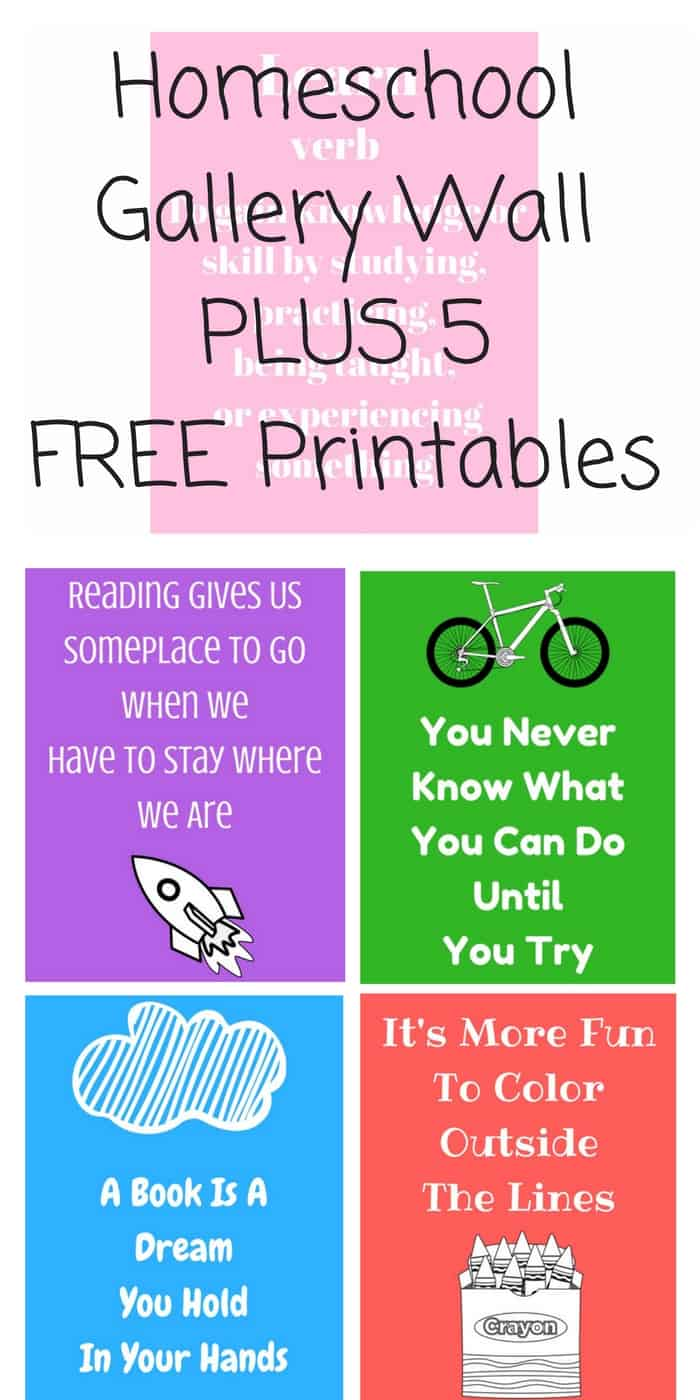 Homeschool Gallery Wall And 5 Free Printables Tastefully Frugal