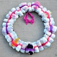 DIY Diaper Wreath Baby Shower Gift