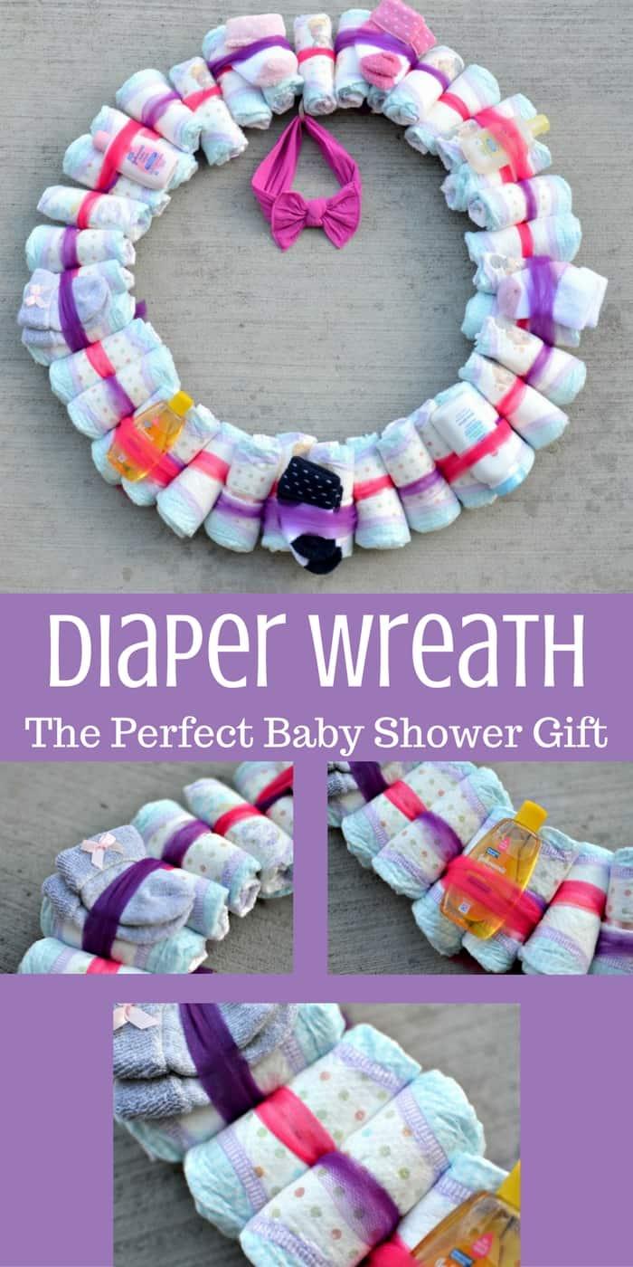 Diy Diaper Wreath Baby Shower Gift Tastefully Frugal