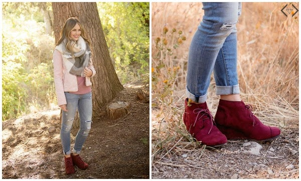 Fashion Friday: Ankle Boot & Scarf Combo $29.95 with FREE Shipping
