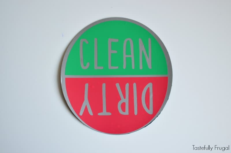 DIY Dishwasher Magnet | Tastefully Frugal