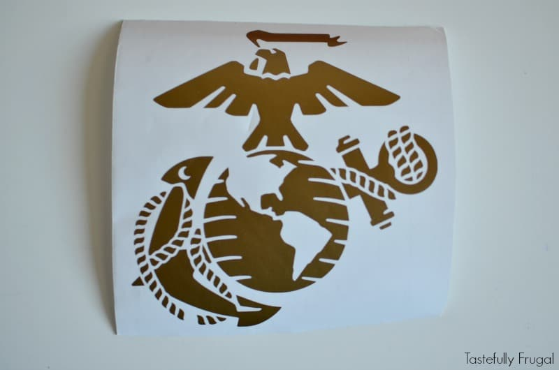 DIY Marine Corp Wrapping Paper: Create special wrapping paper for the military man in your life with this wrapping paper AD #WrapGiveRepeat @Walmart