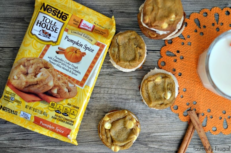 15 Minute Pumpkin Spice Whoopie Pies with Cinnamon Buttercream Frosting: A quick and easy fall treat! AD #BakeHolidayGoodness