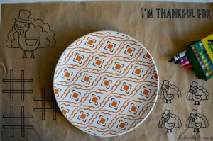 Thanksgiving Placemat for Kids | Tastefully Frugal AD #cricutmade