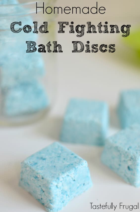 Cold-fighting bath bombs/discs by Tastefully frugal
