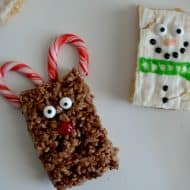 Frosty and Rudolph Rice Krispie Treats