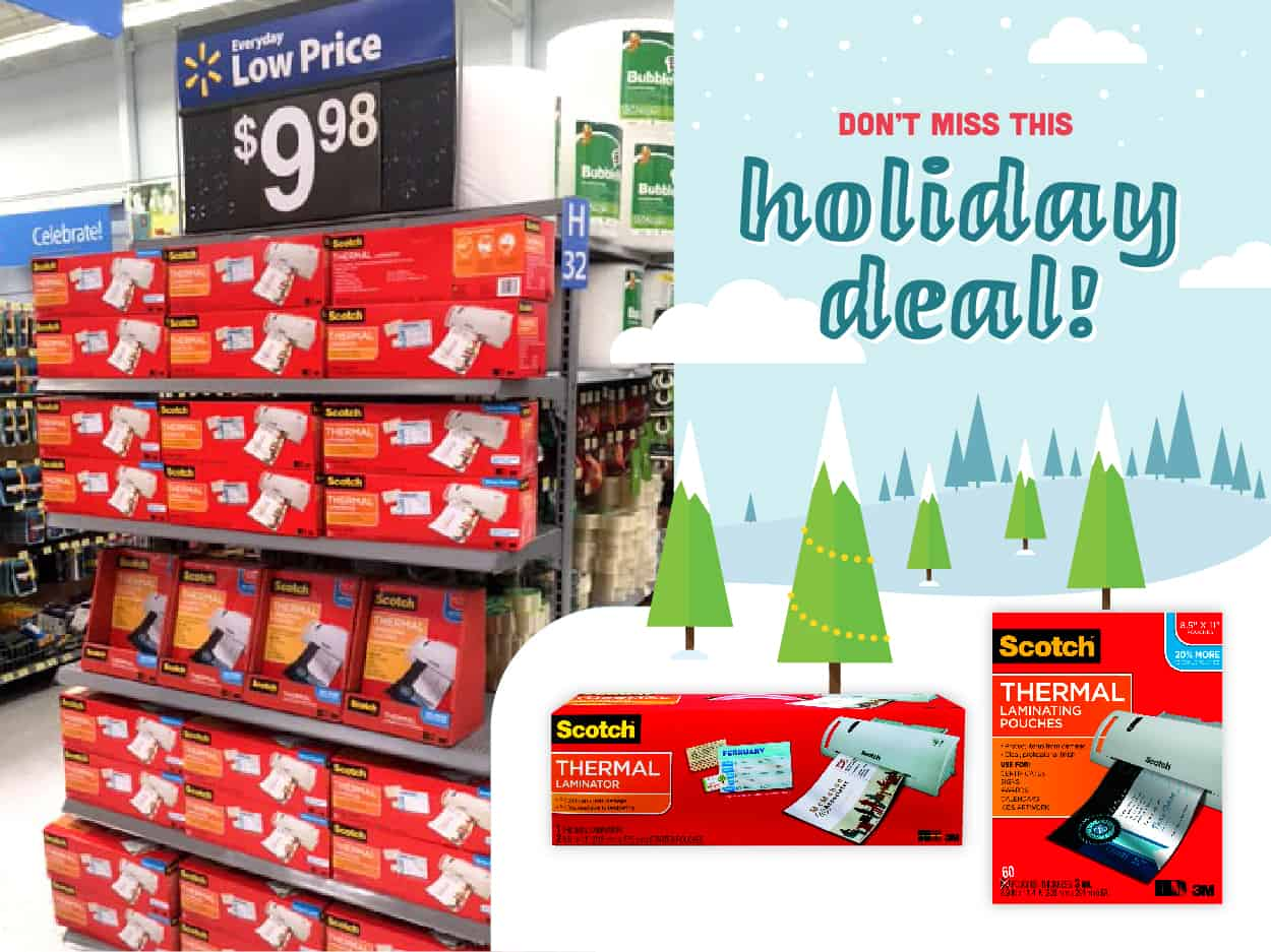Scotch Laminators and Pouches on Rollback at Walmart