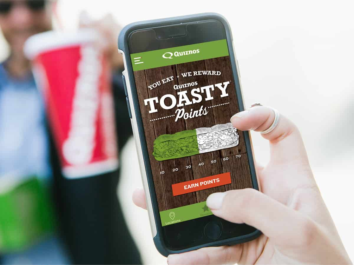 FREE Sandwich at Quiznos & Toasty Points App