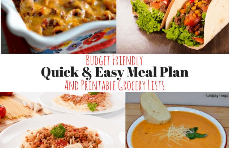 Weekly Meal Plan & Printable Grocery List #1