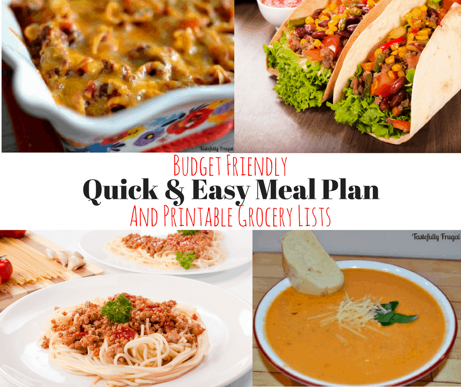 Weekly Meal Plan & Printable Grocery List #1