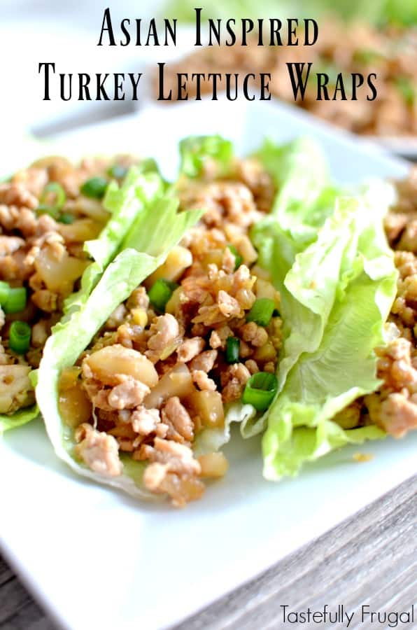 Asian Inspired Turkey Lettuce Wraps: These healthy wraps take less than 20 minutes to make and will have even the pickiest of eaters asking for seconds!
