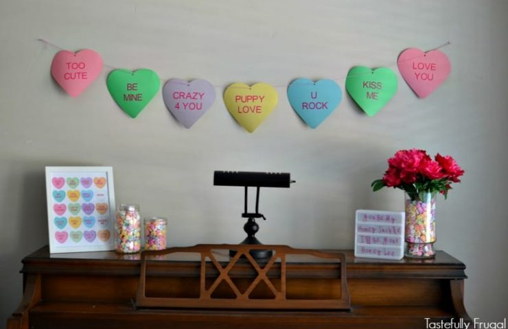 Valentine's Day Mantle with Cricut