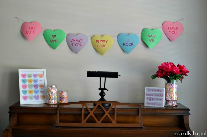 Budget Friendly Valentine's Day Mantle with Cricut: Make everything here for less than $10 #ad #CricutMade