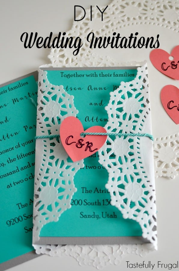 Diy Wedding Invitations With Cricut Tastefully Frugal