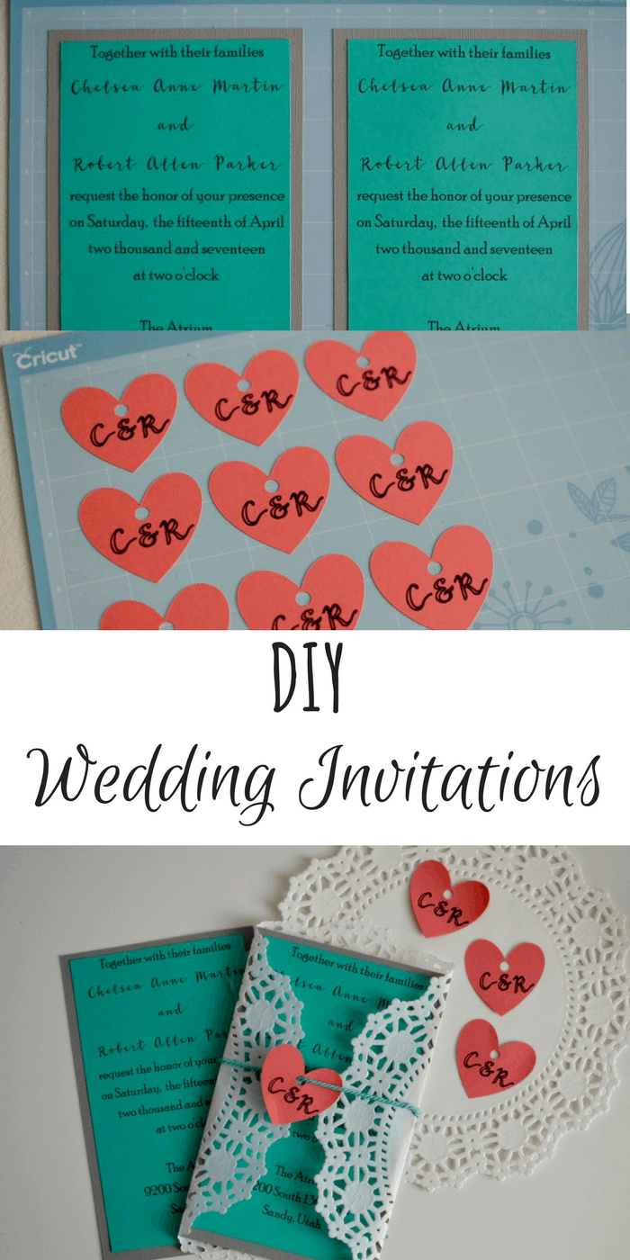 DIY Wedding Invitations with Cricut: Make your own invitations for pennies! #ad